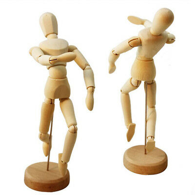8/5.5/4.5'' Wooden Art Mannequin Puppet Doll Paint Sketch Figure Drawing Model