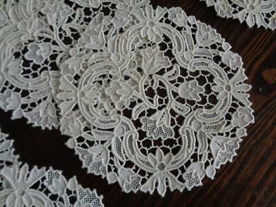 12 Stunning Antique Needlelace Coasters / Goblet Rounds / Cocktail Napkins Mint!