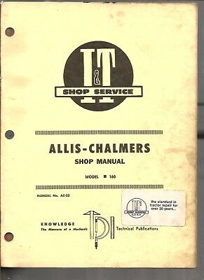 1971 Allis Chalmers Tractor 160 I&t Service Manual