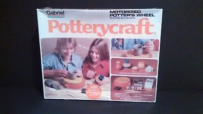 Vintage Gabriel Pottery Wheel Motorized For Handcrafted Ceramics Sealed Box