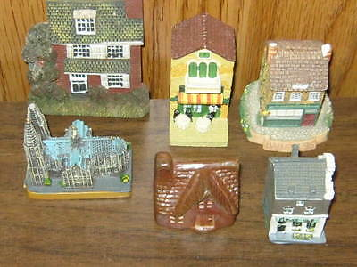 Collection Of 6 Miniature Buildings
