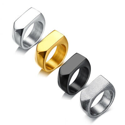 Silver/Gold/Black Bullet Head Arrow Ring Men's 9MM Stainless Steel Band Sz 8-12