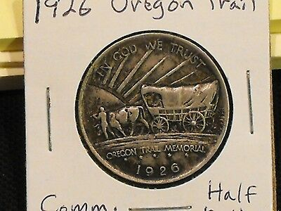 1926 Oregon Trail Commemorative half dollar in XF cond. - Free US shipping.