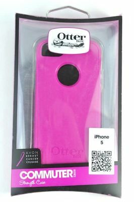 OtterBox iPhone 5 Commuter Breast Cancer Crusade Avon Pink Case w/screen protect