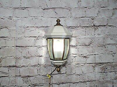Antique Vintage Sconce Gaslight Style White Wired Single Light