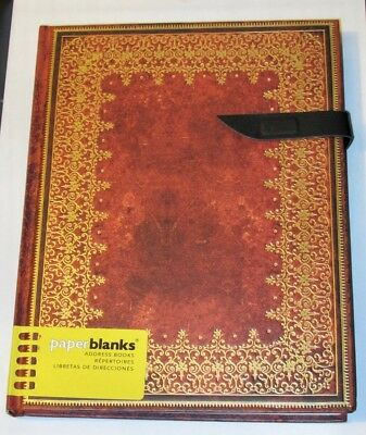 "Paperblanks ADDRESS BOOK Foiled Ultra gold emboss 7""x 9"" Address Book"