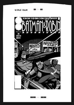 Ty Templeton Batman And Robin Adventures #1 Rare Large Production Art Cover Mono