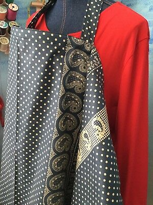 NURSING COVER  BREASTFEEDING HIDER  Apron  NEWEST DOTS PAISLEY BORDER