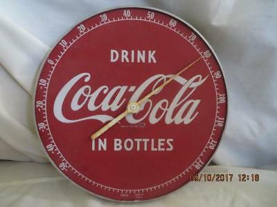 Vintage 1950's Coca Cola Thermometer, DRINK IN BOTTLES