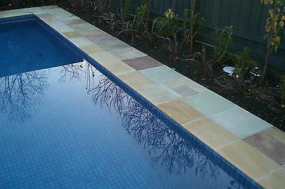 Copping Bullnosed Natural Sandstone Tiles For Swimming Pools Or Steps