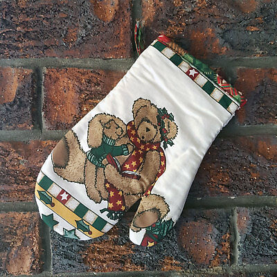 BRAND NEW Christmas Oven Mitt / Glove ~ Xmas Teddy Bears