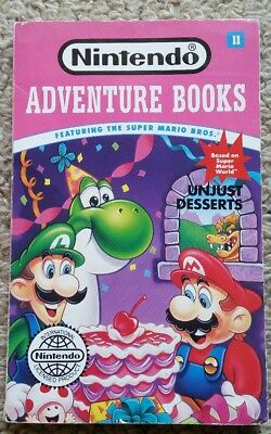 Nintendo Adventure Books featuring the Super Mario Bros #2 Unjust Desserts