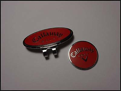 *NEW* Callaway Hat Clip & Ball Marker - Red