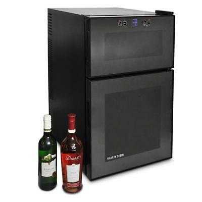 24 Bottle Wine Cooler Drink Chiller Modern Mini Bar Beverage Fridge