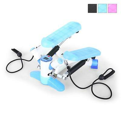 Fun Blue & White Exercise Stepper Fitness Machine Thigh Toner Trainer Home Gym