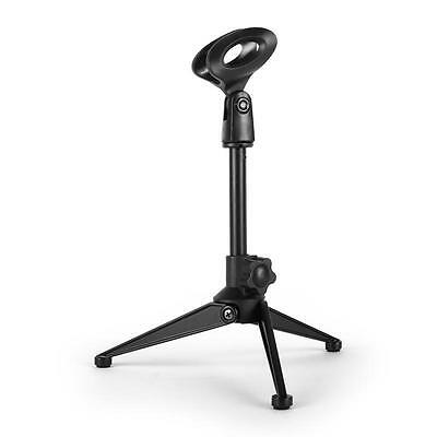 Malone Table Top Microphone Stand Mic Stands Adjustable Foldable Clip - Black