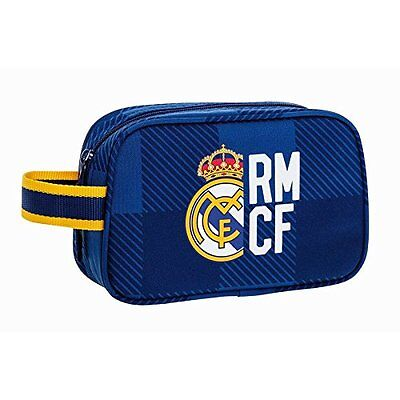"REAL MADRID ""BLUE"" Neceser bolsa de aseo 22 cm // Carrying case with zip"