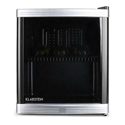 Brand New Klarstein Compact Free Standing 34L Wine Cooler Wooden Shelves Black