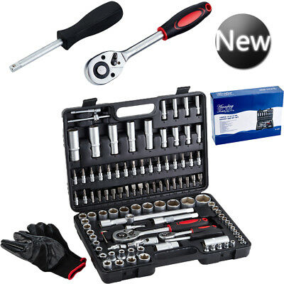 108Pcs Professional Socket Set Screwdriver Bit Torx Ratchet Driver Case Tool Kit