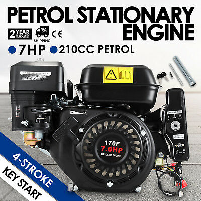 7HP Petrol Stationary Engine 4 Stroke Horizontal Shaft Start Recoil 3600rpm OHV