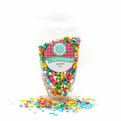 Sugar Crafty MAGICAL Sprinkle Mix 190g (multi-coloured stars)
