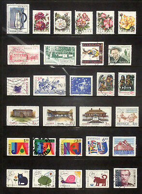 Selection of used stamps from Sweden 1994,95