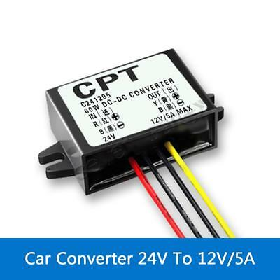 Car Converter Module 24V To 12V 5A 60W Step Down DC To DC Buck Module New