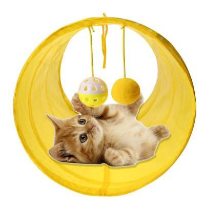 Pet Cat Tunnel Tubes Collapsible Crinkle Kitten Rabbit Toys Play Funny Tunnels