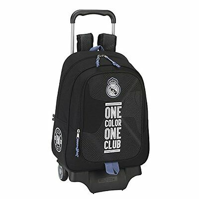 "REAL MADRID ""BLACK"" Mochila grande con carro ruedas/Trolley/Big rucksack wheels"