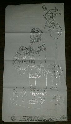 Vintage Silver Embroidery full size transfer pattern RARE  Deighton's Transfer
