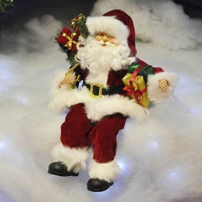 Sitting Father Christmas / Santa Claus Figure Xmas Decoration Ornament