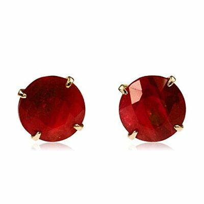 nadi K18PG ruby ??0.6ct pink gold four claw stud earrings