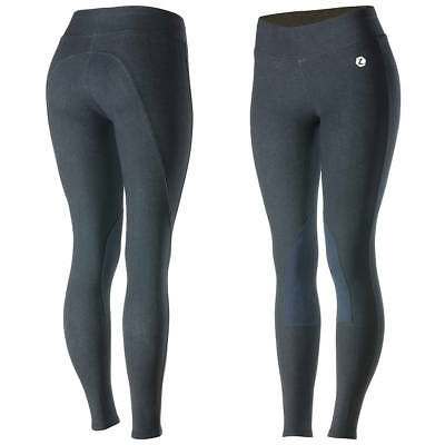 SALE*Horze Womens Stretch Material Elasticated Waist Pull On Knee Patch Breeches