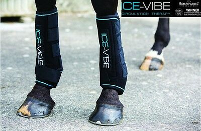 NEW Horseware Ice Vibe Tendon Boots Cool Vibrating Circulation Therapy
