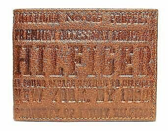 Tommy Hilfiger Passcase Bifold Men's Tan Credit Card Leather Wallet 0091-4459/04