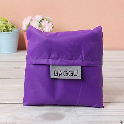 NEW Shopping Bags Environmental Protection Folding Storage Sorting Bags purple