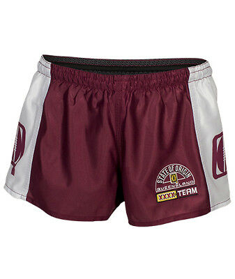 Queensland QLD State of Origin Mens Classic Hero Footy Shorts BNWT NRL Rugby