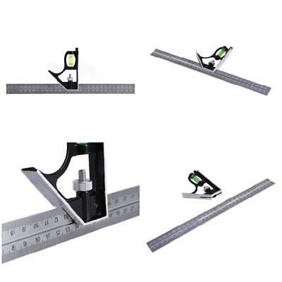 Multi-function 30CM Steel Rulers Alloy Combination Square Ruler Measuring Tool