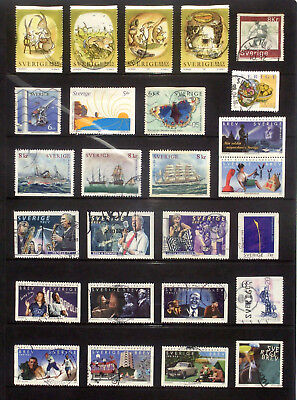 Good lot of used stamps from Sweden 1999