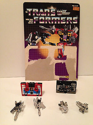 G1 Ravage and Rumble, Transformers. 1985 Vintage Originals