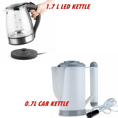 Household /Car Electric Travel Jug Kettle Fast Boil Water Coffee 0.7L / 1.7L New