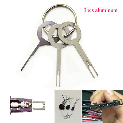 3x Car SUV Electrical Terminal Wiring Crimp Connect Pin Removel Remove Key Tools