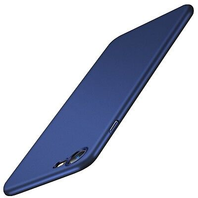 TORRAS Ultra Thin Slim Case Navy Blue With Glass Screen Protector For iPhone 7