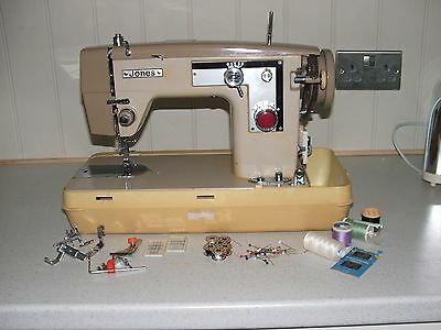 Vintage JONES sewing machine.  NO PEDAL.  SPARES OR REPAIR.