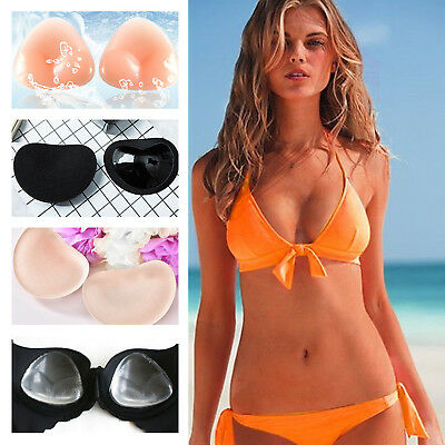 9d125309ab910 2p Silicone Gel Bra Bikini Breast Enhancers Push Up Pads Chicken Fillets  Inserts