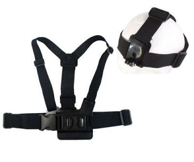 Head Harness + Chest Strap Mount Accessories For GoPro Hero 2 3 4 5 Camera