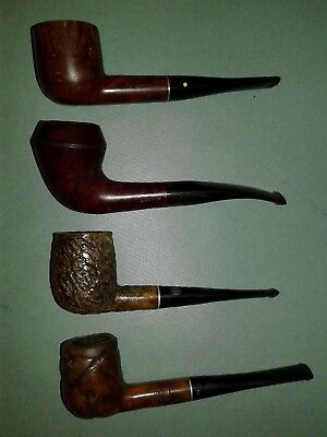 Lot of 4 Vintage Tobacco Estate Pipes For Repair/Restore