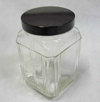 Vintage Art Deco Glass Jar with Bakelite lid