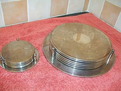 Silver plate table mats & coasters