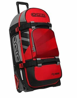New Ogio Moto Rig 9800 Red Hub Ltd Edition Wheeled Kit Gear Bag Enduro Mx Travel